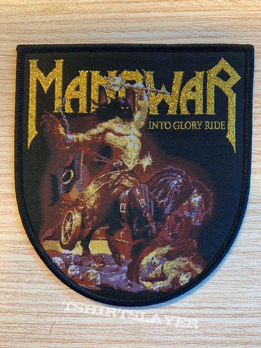 Manowar - Into Glory Ride - black border