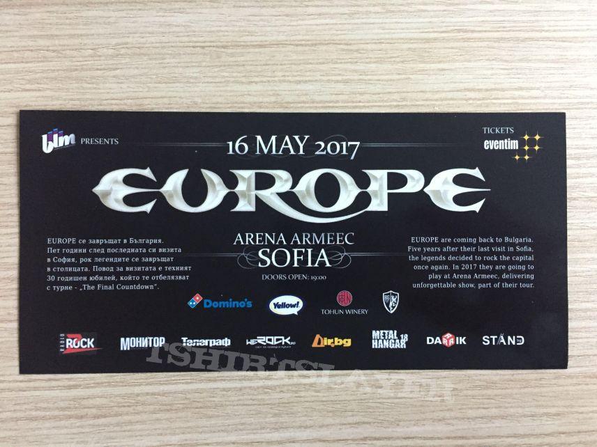 Europe - ticket 16.05.2017