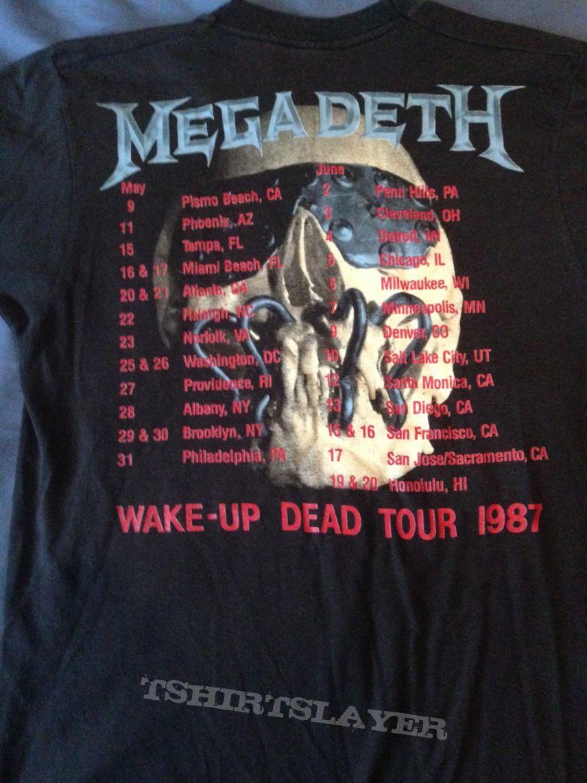 Megadeth Wake Up Dead 1987 Tour T Shirt Tshirtslayer Tshirt And