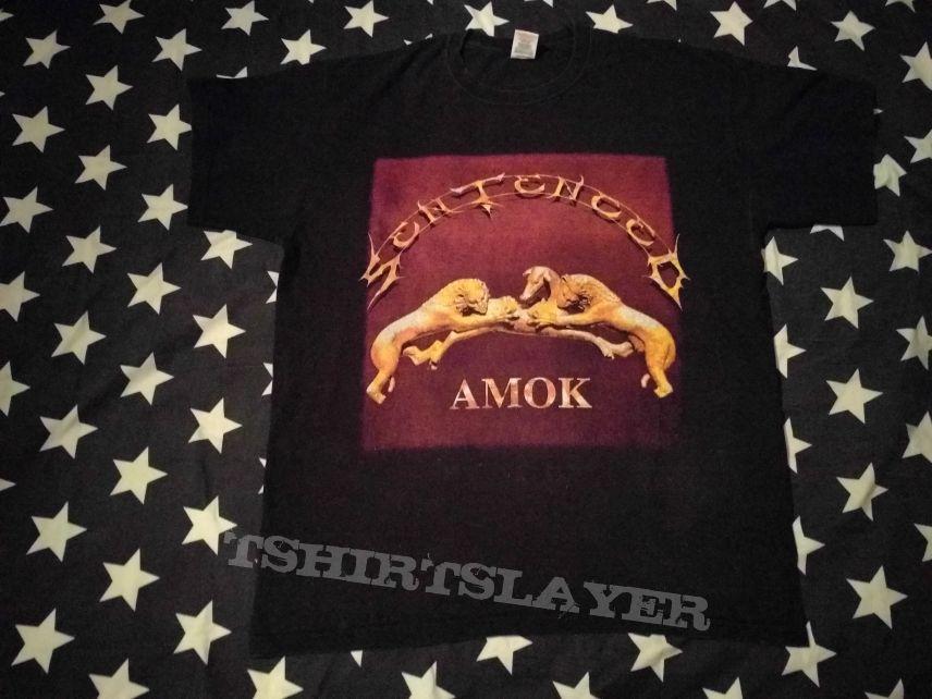 Sentenced amok european tour 1995 t-shirt