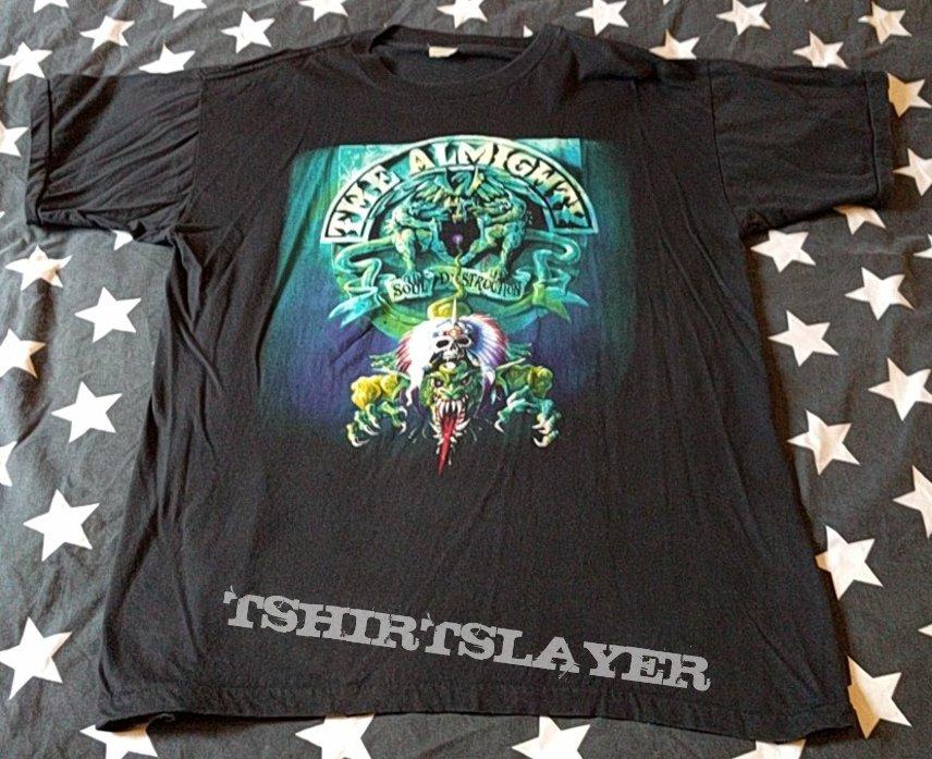 The Almighty Logo Black T-shirt Rock Band Shirt Heavy Metal Tee