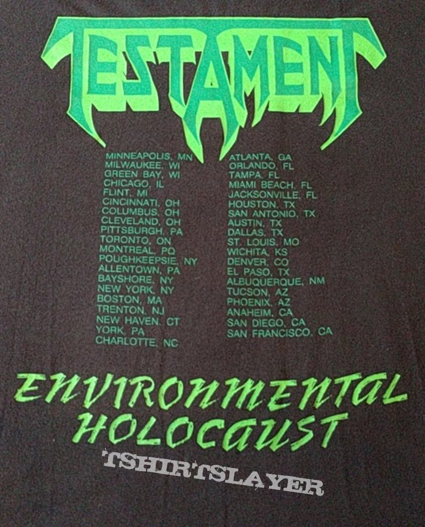 Testament Greenhouse effect environtmental holocaust tour 1989