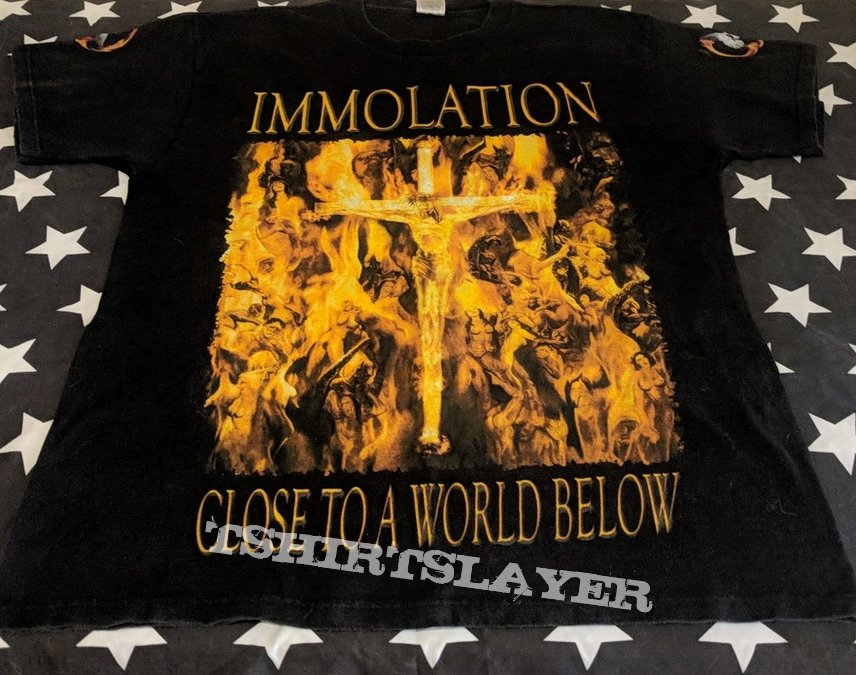 Immolation close to a world below darkness over Europe tour 2001