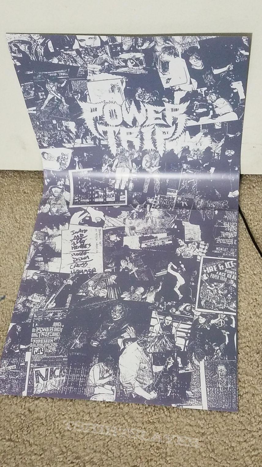 Signed vinyl, poster, setlist