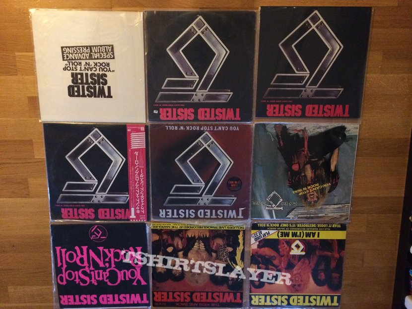 Twisted Sister vinyl collection
