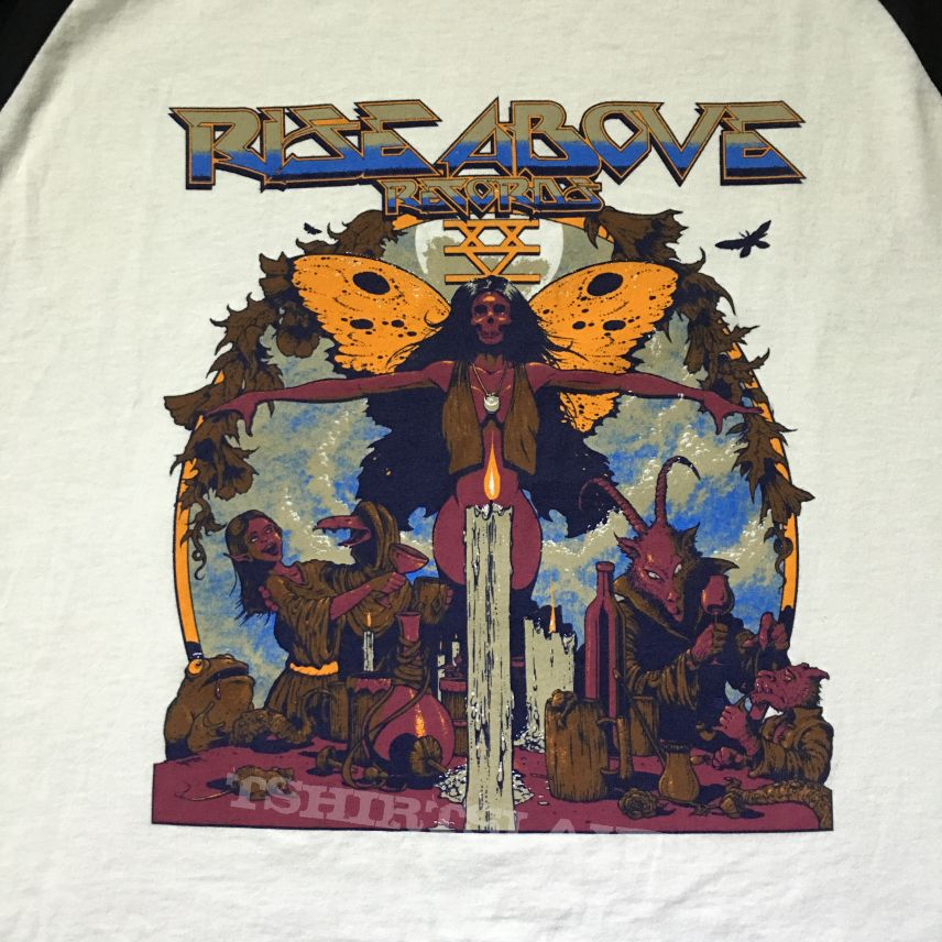 Rise Above Records 25th anniversary shows baseball tee