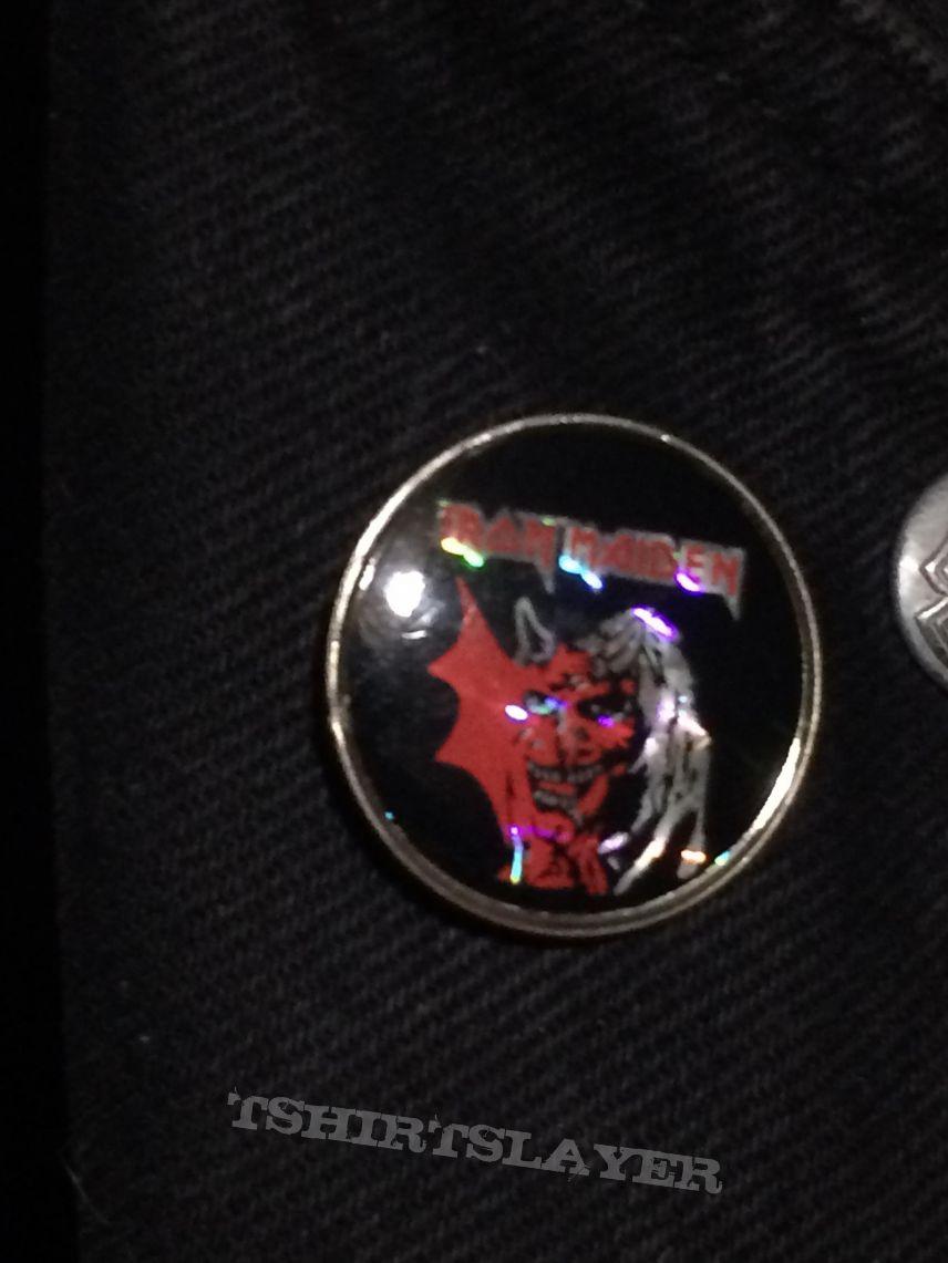 Iron Maiden Purgatory prism pin badge