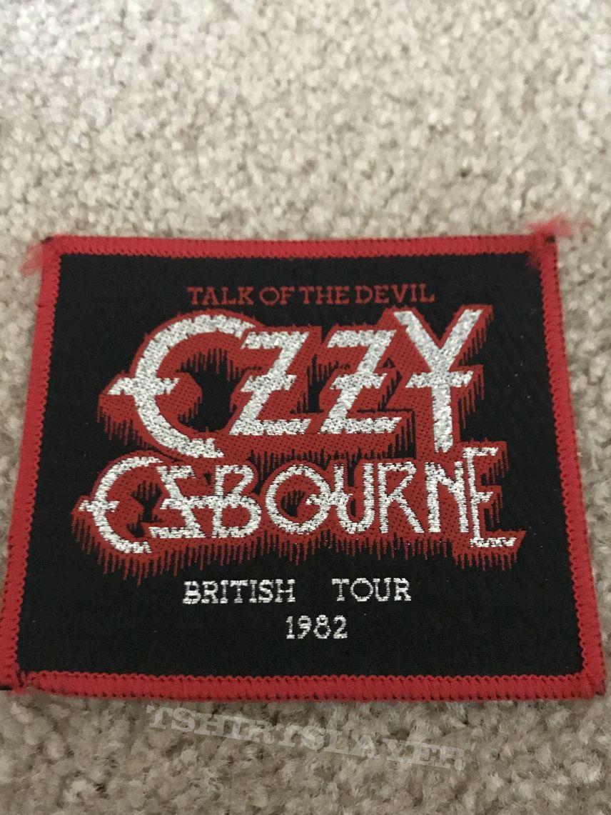 Speak of the Devil/Talk of the Devil Tour patch 1982
