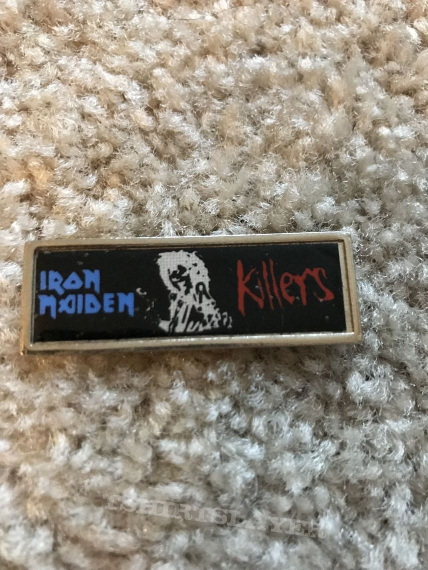 Image result for badge iron maiden killers
