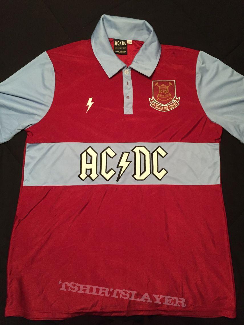 uk availability 0d1d9 9b0e9 AC/DC - London 2016 West Ham event jersey | TShirtSlayer ...