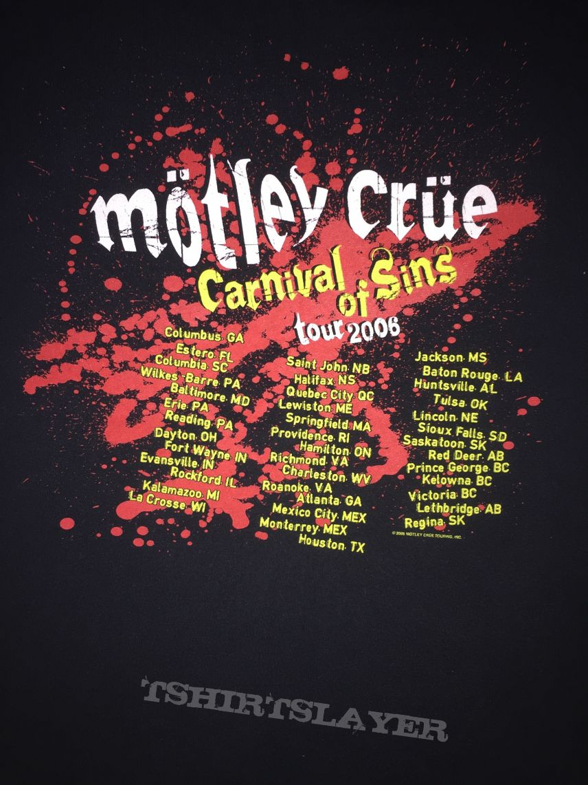 Shirt design columbus ga - M Tley Cr E Carnival Of Sins 2006 Tour Shirt