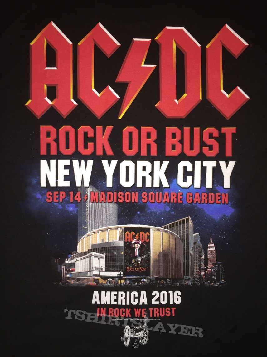 AC/DC - New York 2016 event shirt