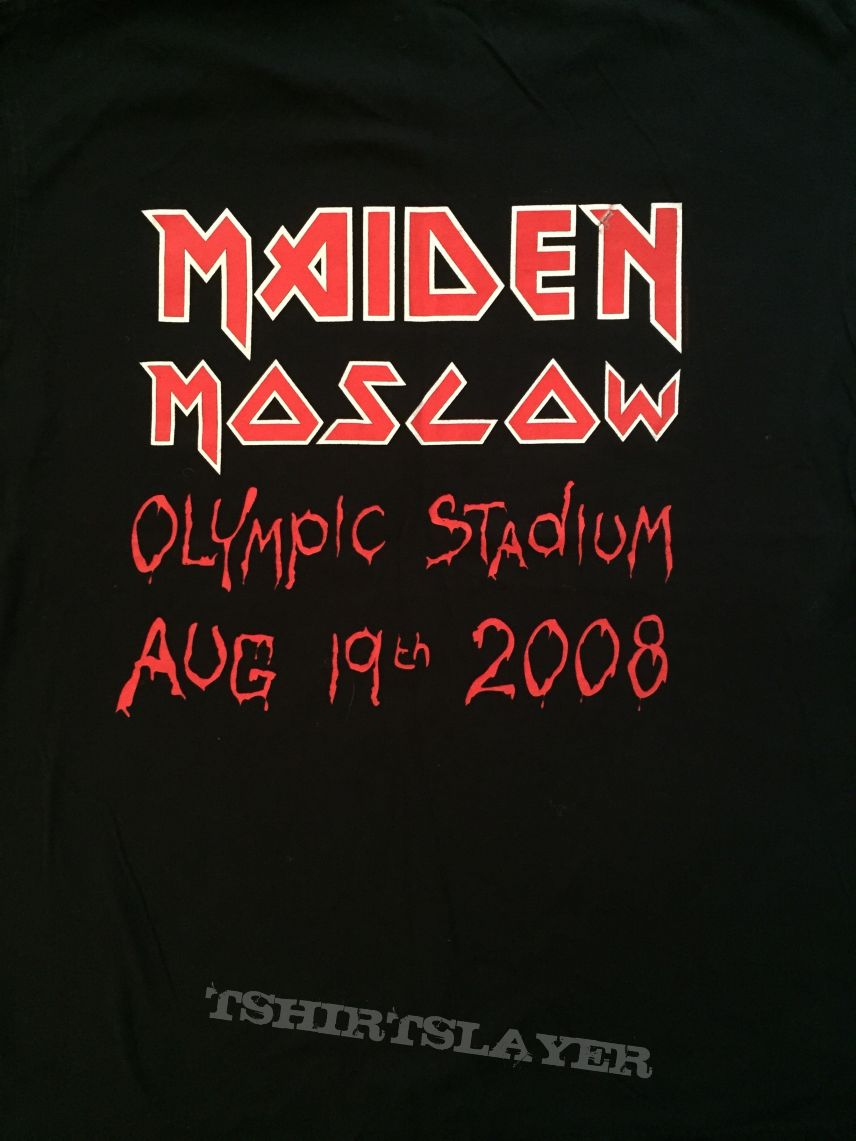 Iron Maiden - Moscow 2008 event shirt