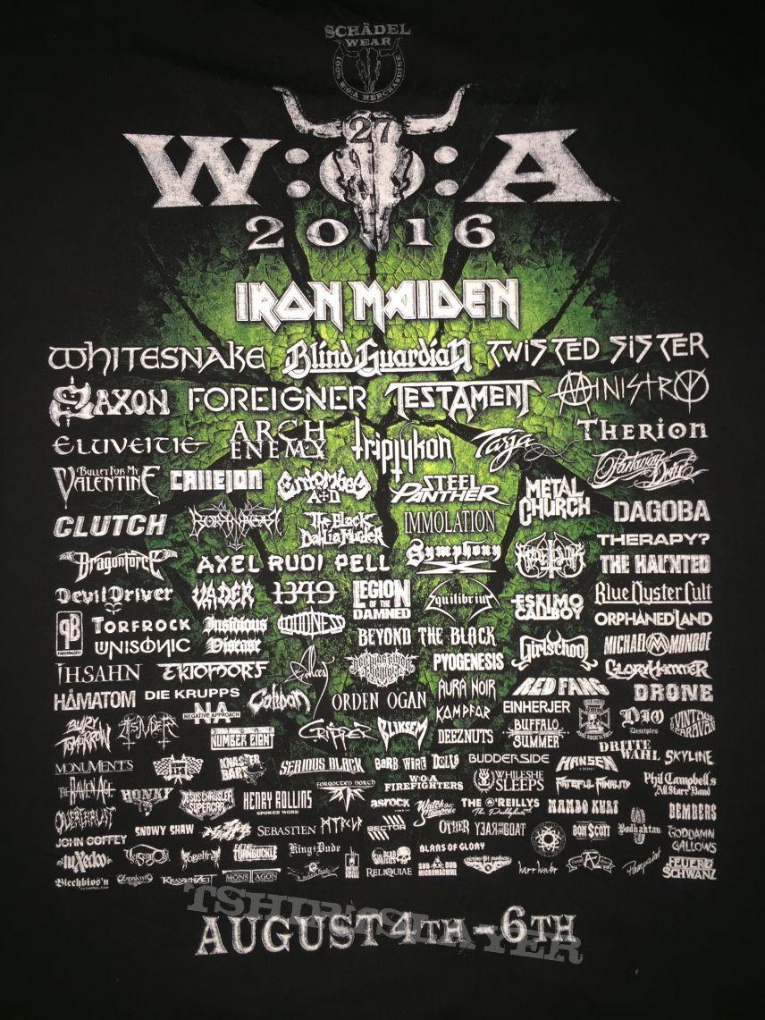 Wacken Open Air 2016 festival shirt