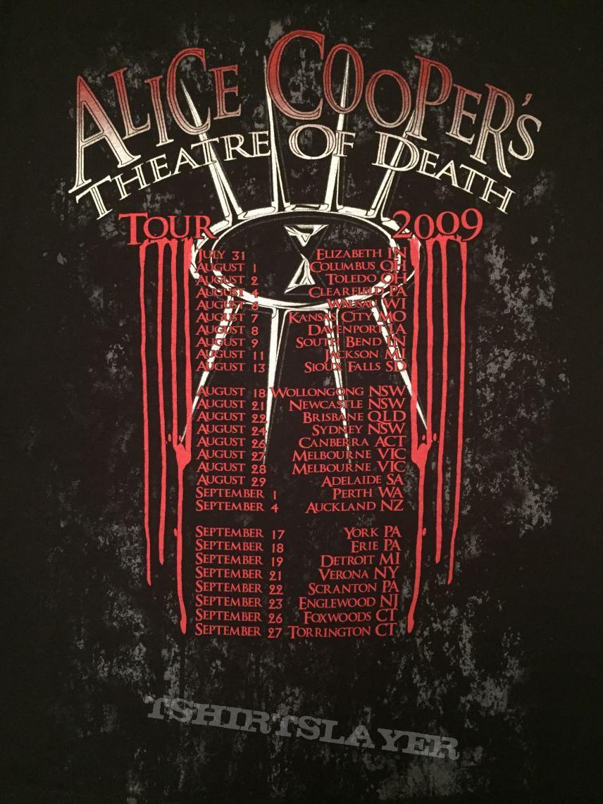 T shirt design york pa - Alice Cooper Theatre Of Death 2009 Tour Shirt