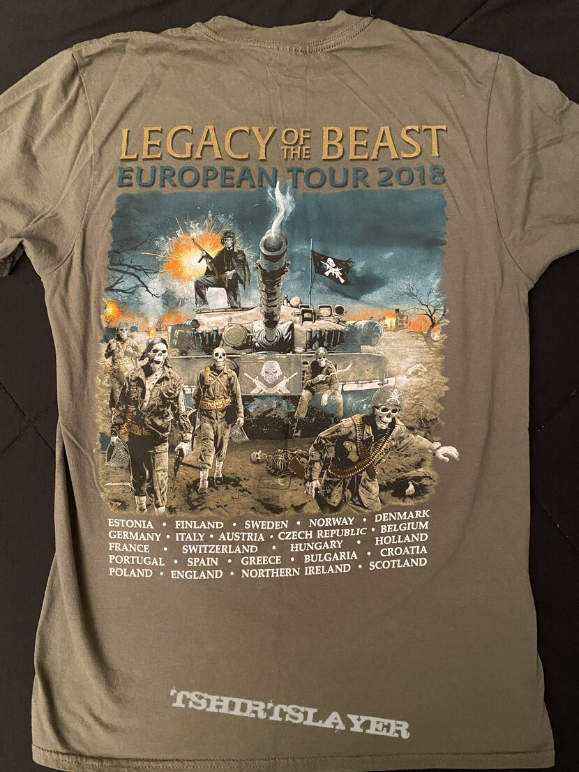 Iron Maiden - Legacy Of The Beast 2018 Tour Shirt