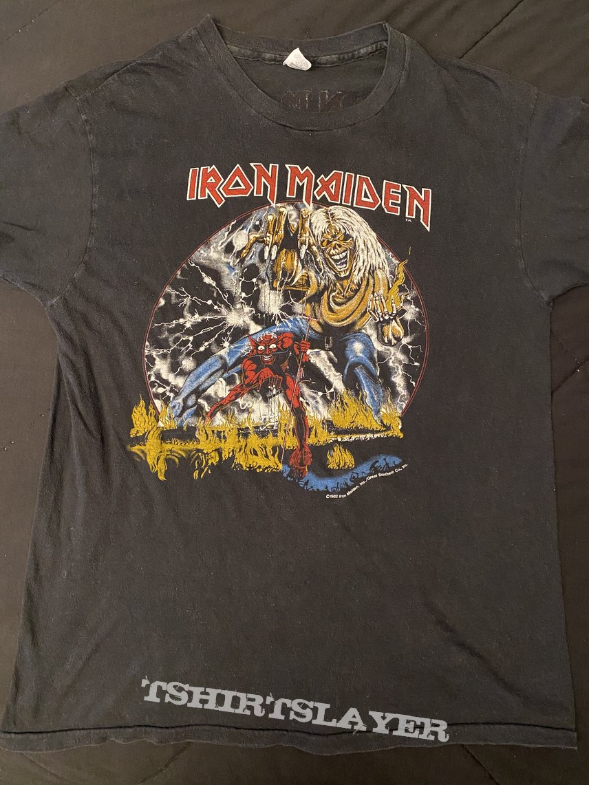 Iron Maiden - Beast On The Road USA 1982 tour shirt