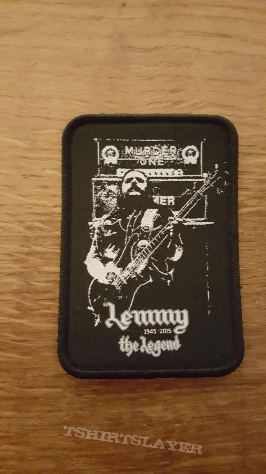 Lemmy the Legend patch black border