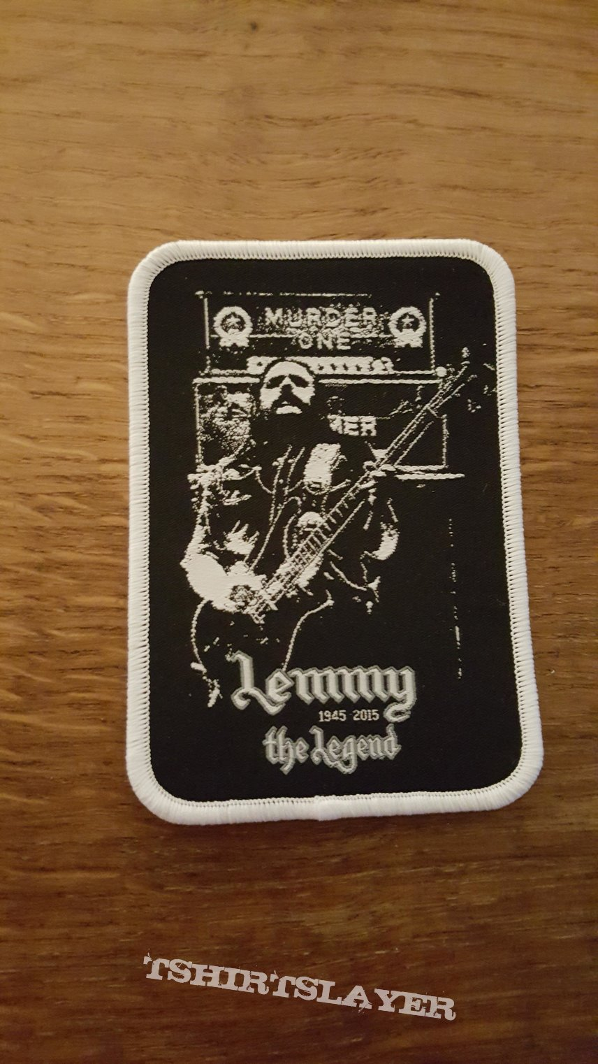 Lemmy the Legend patch white border