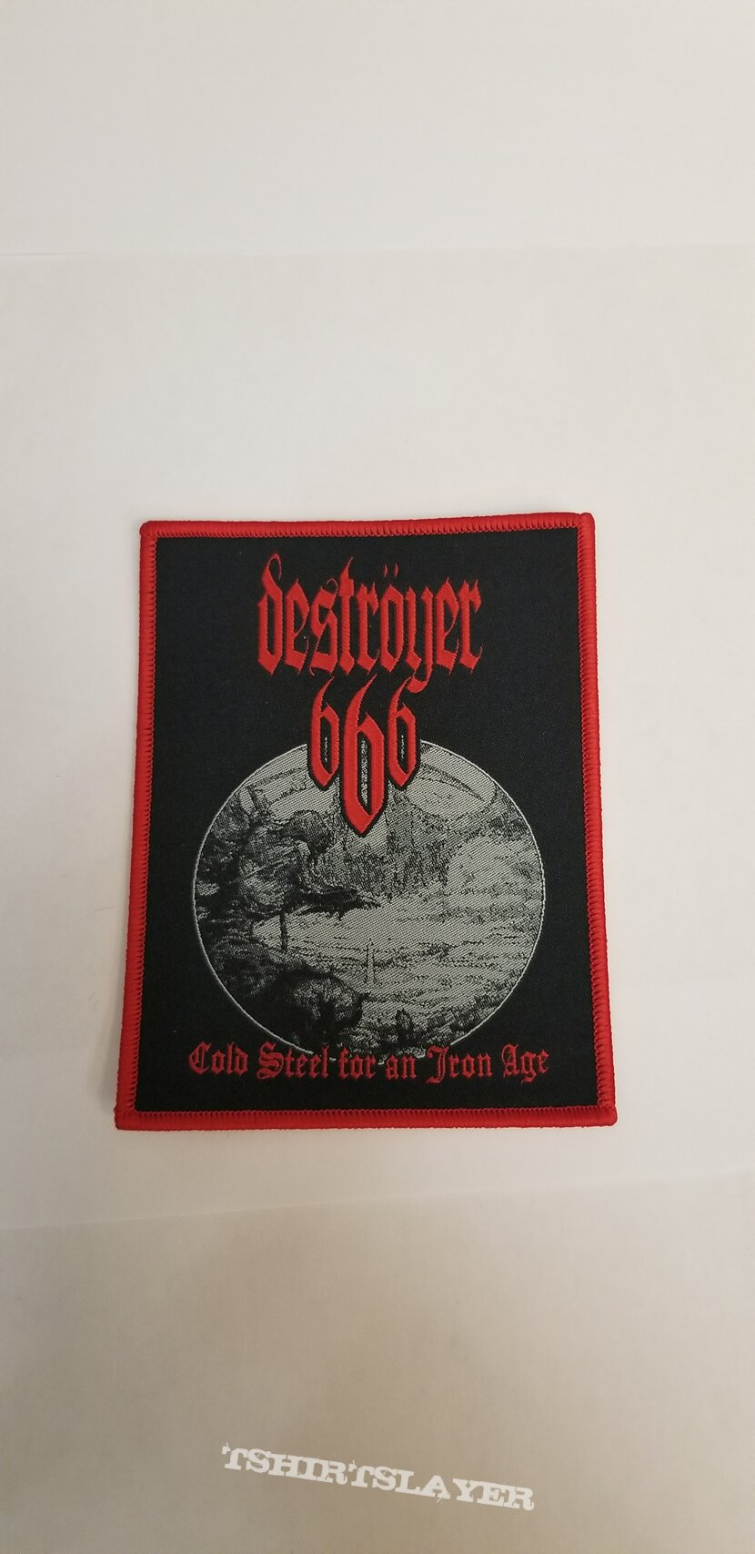 Destroyer 666 - Cold Steel for an Iron Age Red Border Patch