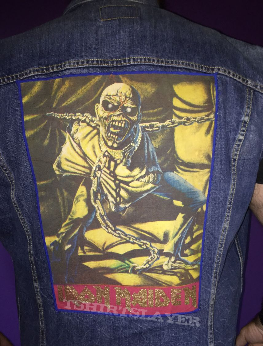 old school back patch iron maiden   Piece of Mind