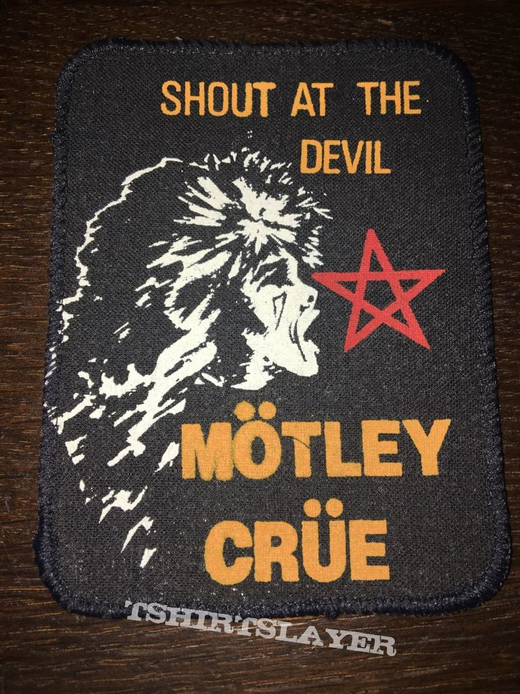 rare printed patch Mötley Crüe