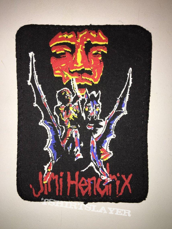rare patch printed jimi hendrix