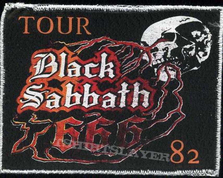 printed patch black sabbath  tour 82