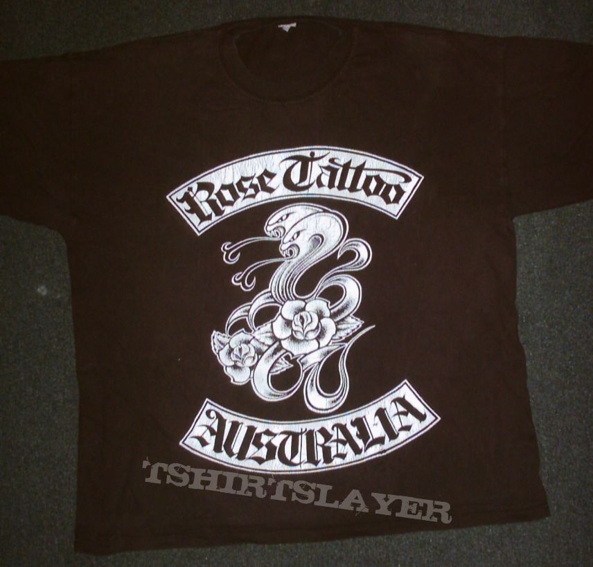 Rose Tattoo Tour Shirt Tshirtslayer Tshirt And