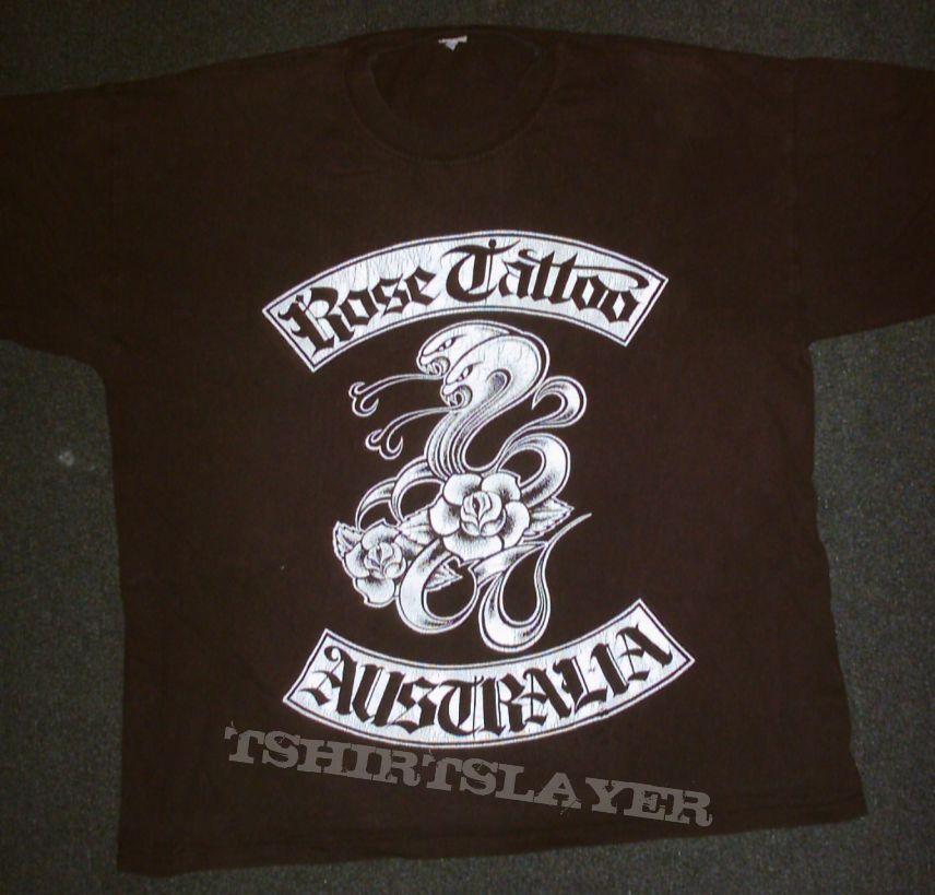 Rose Tattoo Tour Shirt Tshirtslayer Tshirt And