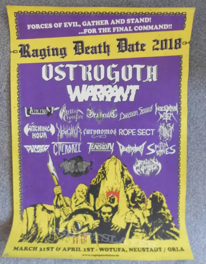 Raging Death Date 2018 Poster