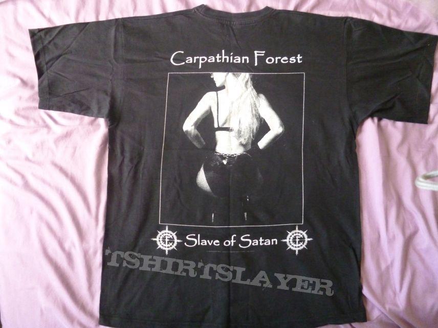 "CARPATHIAN FOREST Rare Dedicated shirt ""Sluts of Hell"""