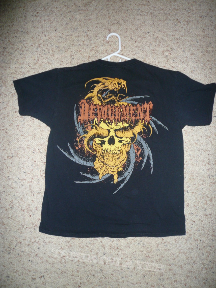 TShirt or Longsleeve - Devourment-Snake and Severed Head