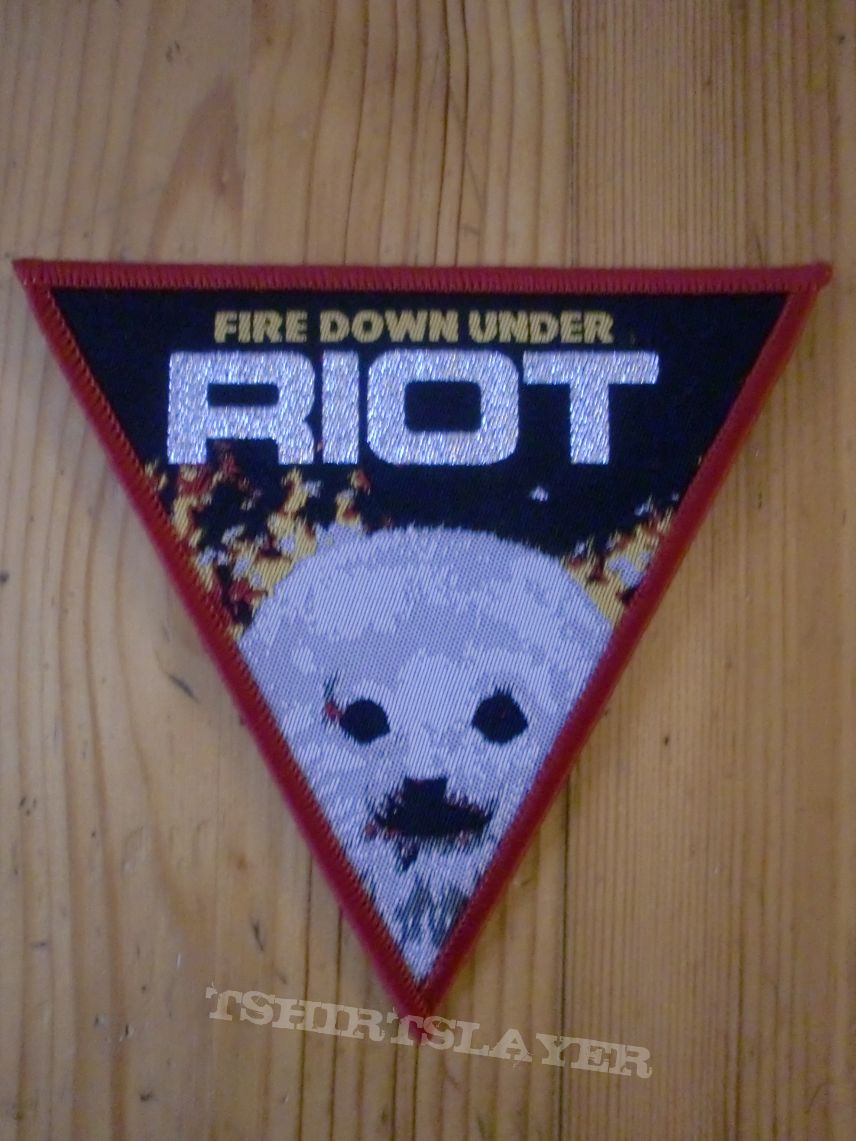 "Riot (Riot V) - ""Fire Down Under"" Triangle Patch"