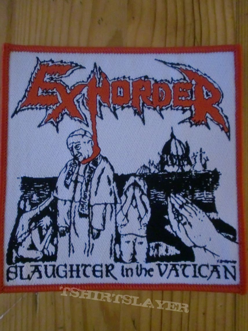 """Exhorder - """"Slaugther In The Vatican"""" Patch"""