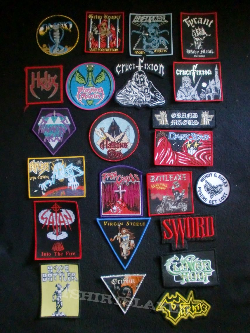 "Small ""Oldschool Metal"" Patches"