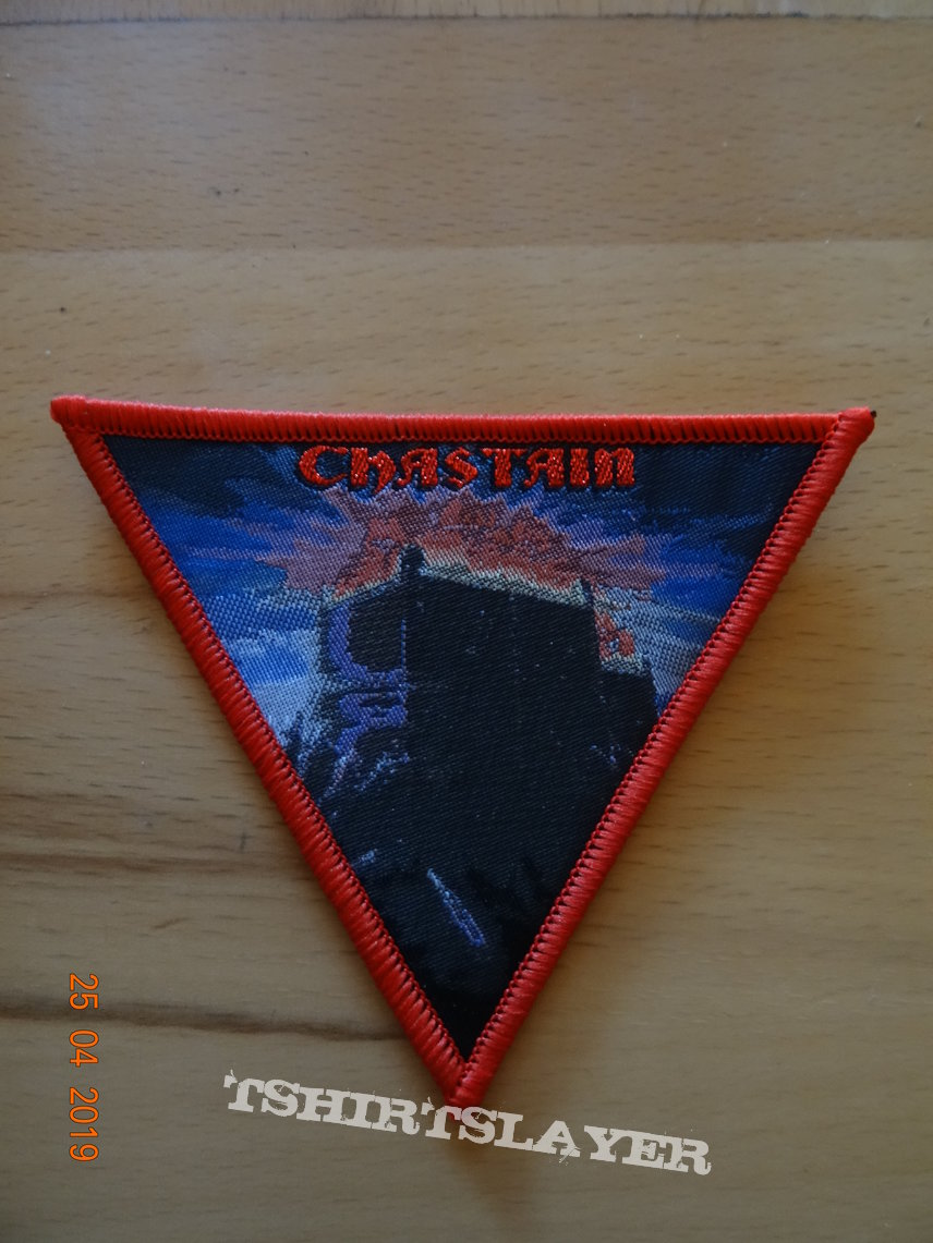 """Chastain - """"The Voice Of The Cult"""" Trianglepatch Red Border"""