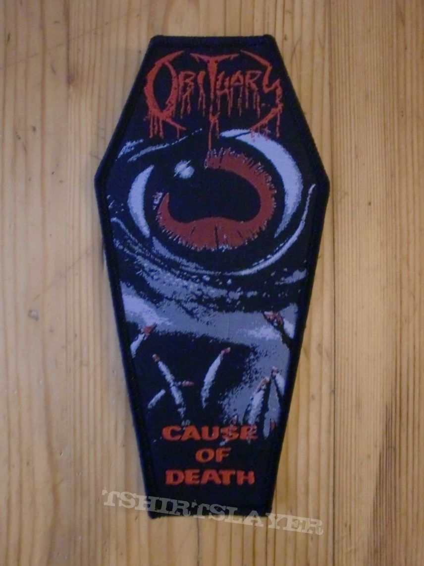 "Obituary - ""Cause Of Death"" Coffin Patch"