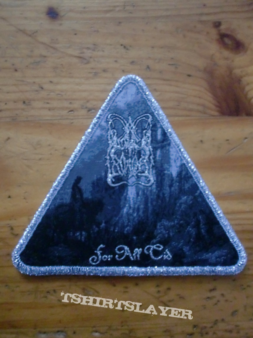 "Dimmu Borgir ""For All Tid"" Silver Border Triangle Patch"
