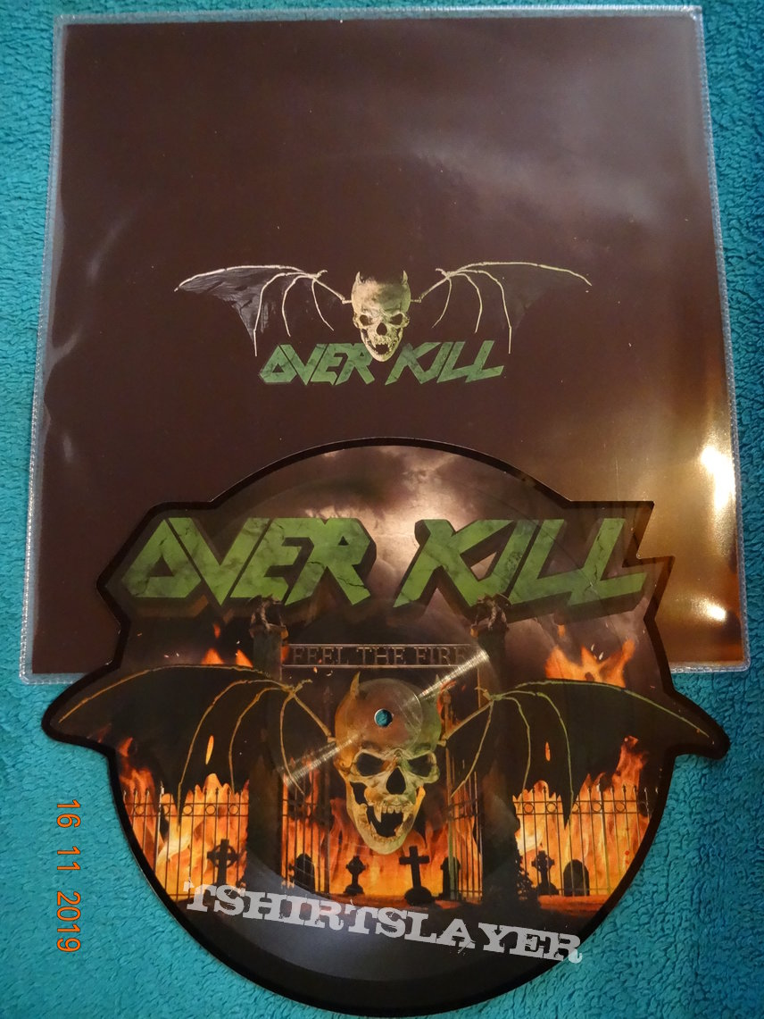 "Overkill ""Feel The Fire"" Picture Shape Vinyl"