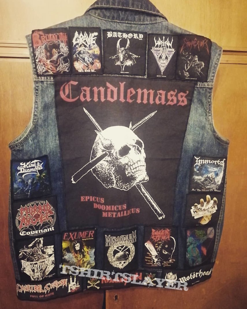 battle jacket - my jeans vest with metal patches