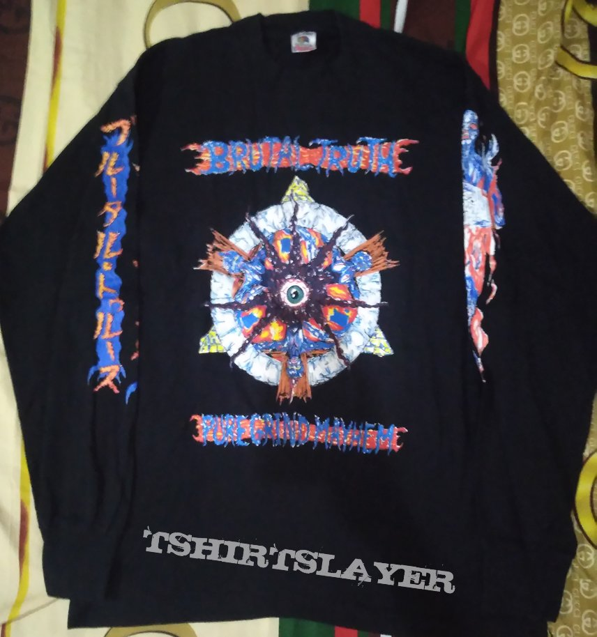 Brutal Truth Japan Tour 1994 Original Longsleeve