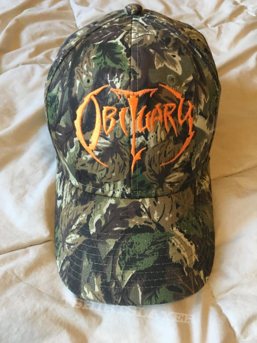 Obituary camo hat