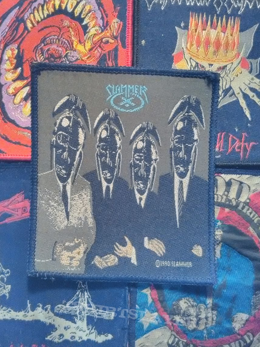 Slammer - The Work Of The Idle Hands woven patch