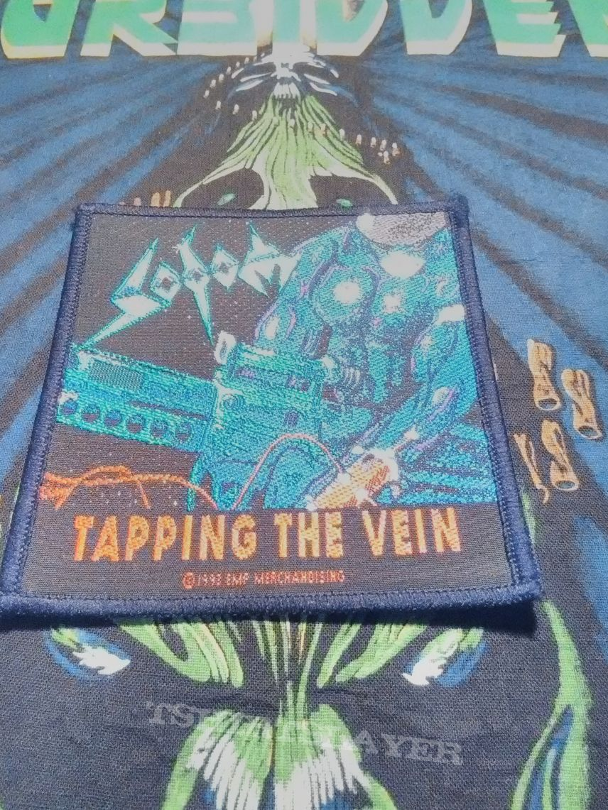 Sodom - Tapping The Vein woven patch ( RARE )