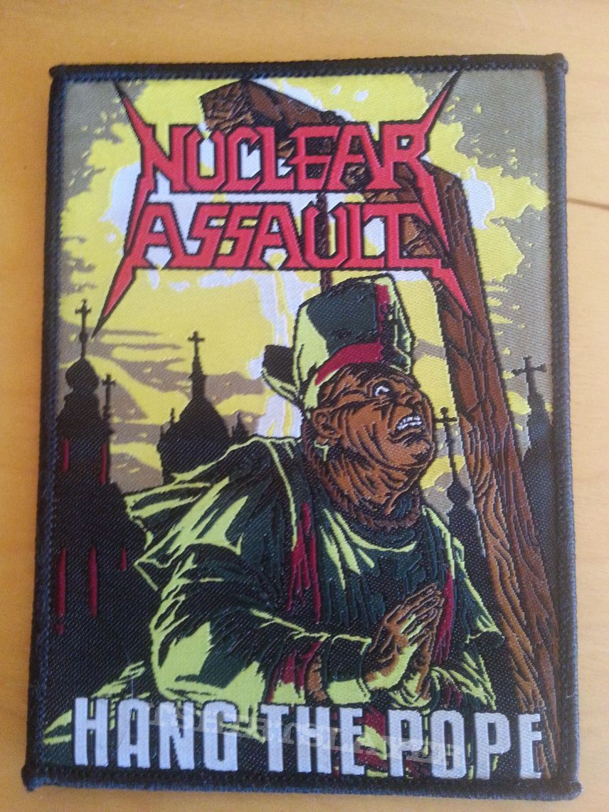 """Nuclear Assault """"Hang The Pope"""" Patch Limited"""