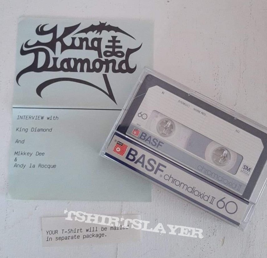 King Diamond Interview Cassette from the FC  Coven