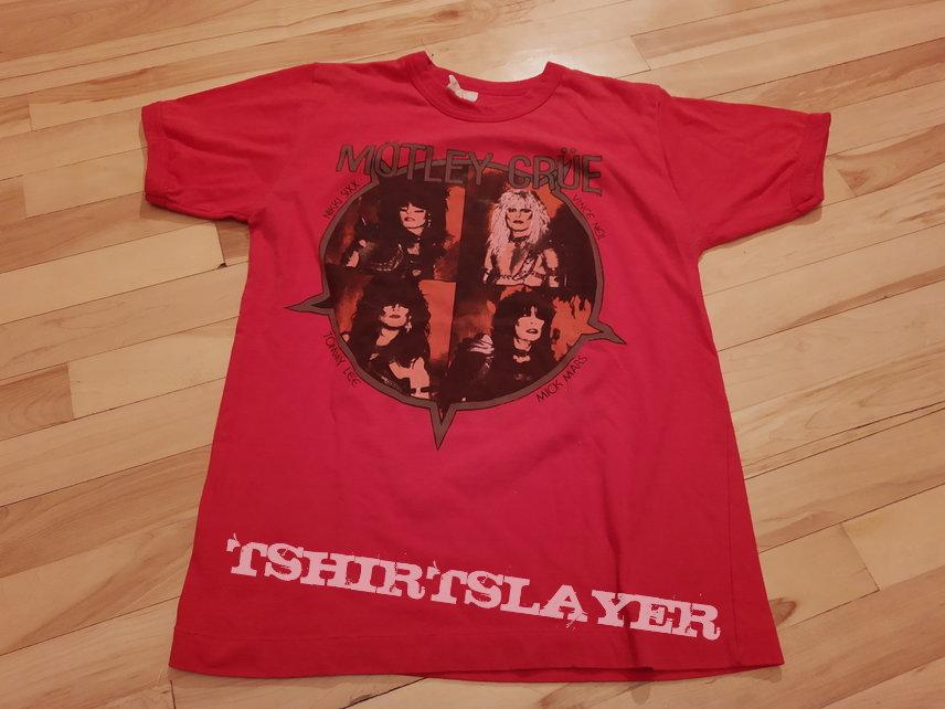 Motley Crue Shout of the devil tour 1983 red