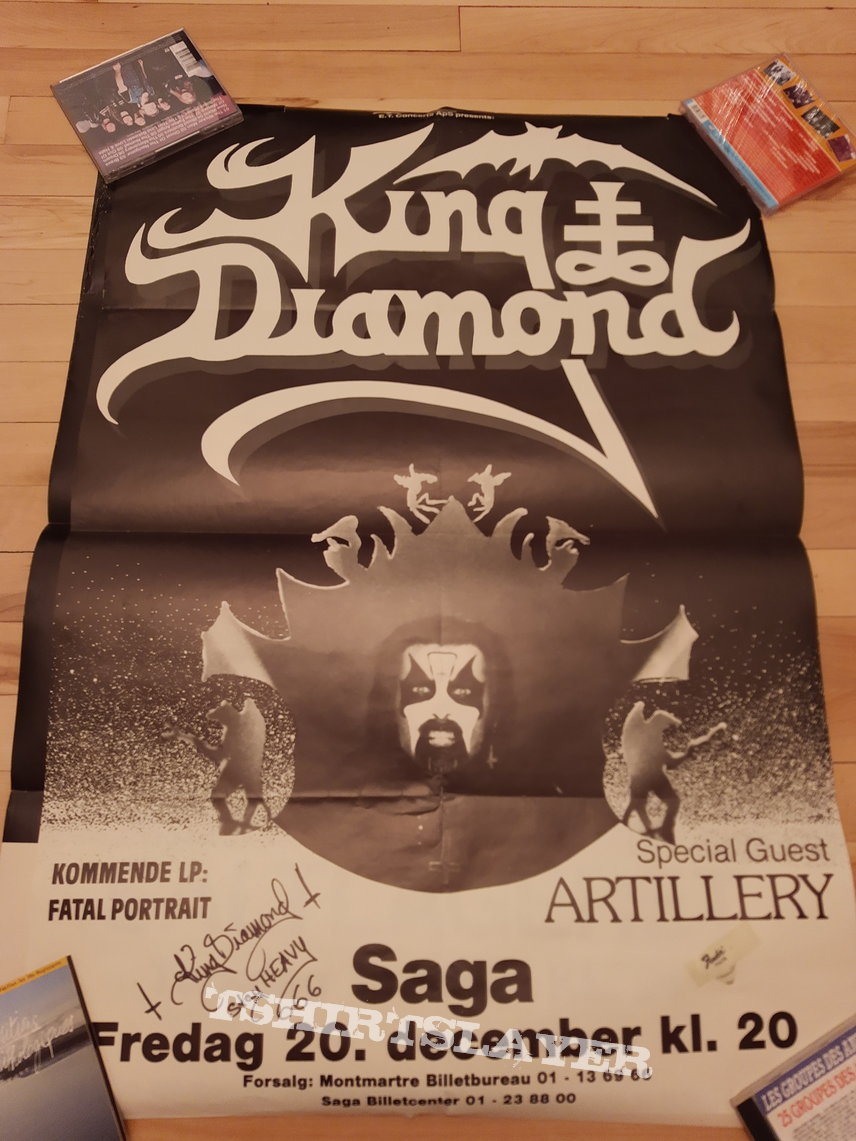 King Diamond Artillery Copenhagen Saga 20 december 1985 original poster signed