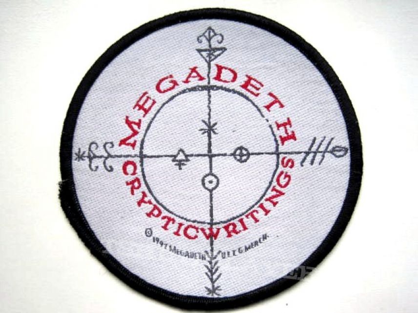 MEGADETH rare 1997 no 39 brandnew 10cm cryptic warning